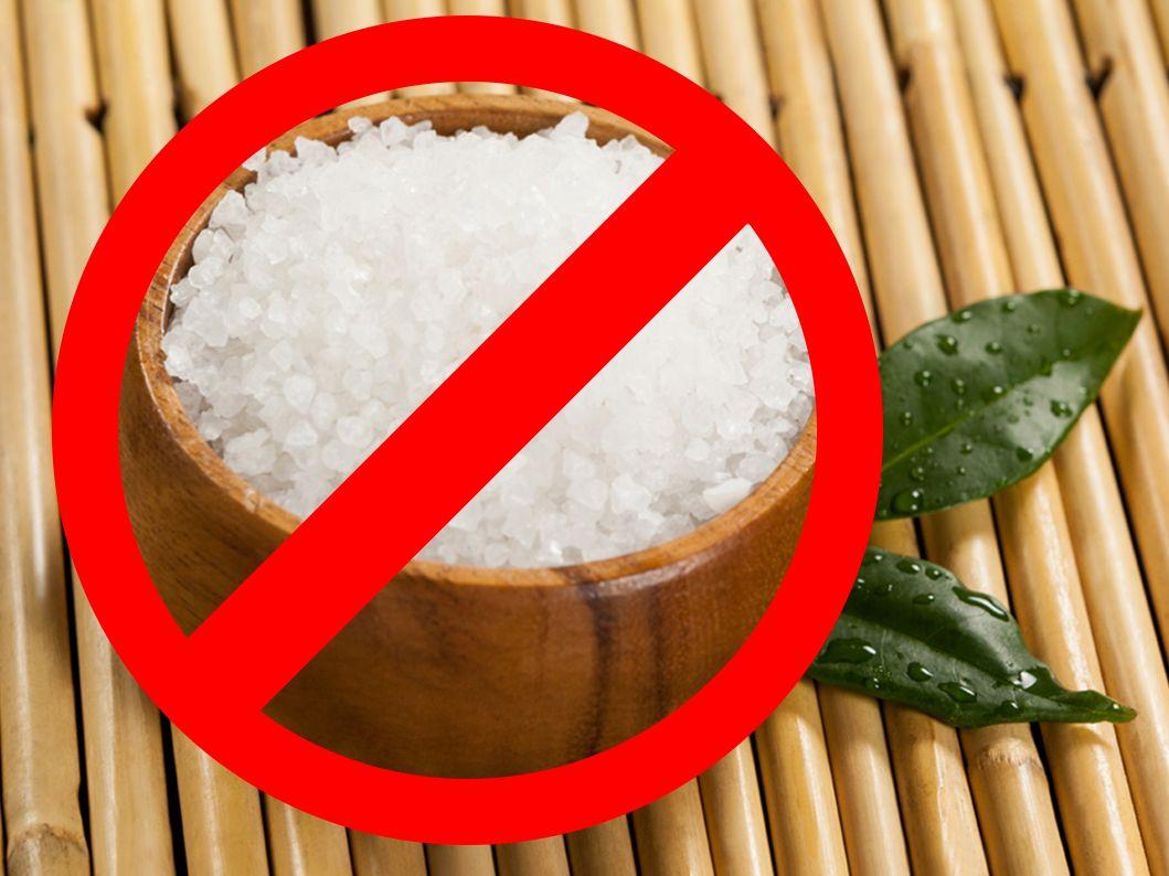 No sal para evitr las varices