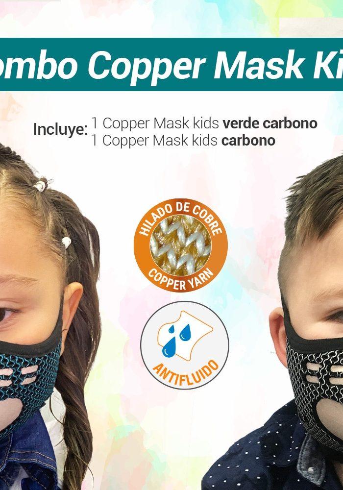 Tapabocas niños - Hilado de Cobre